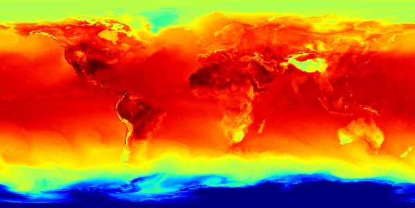 Température de l'air du Système global de prévision déterministe (SGPD)